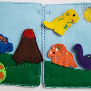 dinosaur quiet book pages