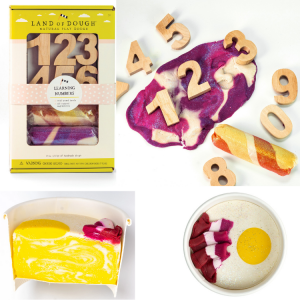 Wooden Learning Numbers Kit and Dough
