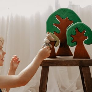 Wooden Trees for open-ended play